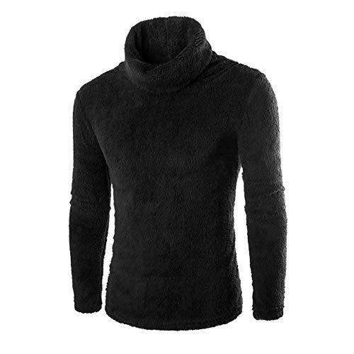 Jersey de Cuello Vuelto para Hombre, suéter de Felpa espesante, cálido, Suave y cómodo, Ajustado, de Manga Larga, Camisetas de Punto XX-Large