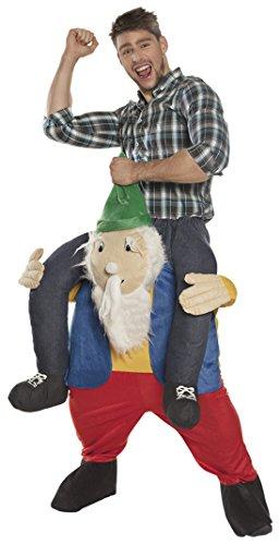erdbeerclown - Herren Männer Hose komplettes Kostüm Zwerg huckepack, L/XL, Mehrfarbig