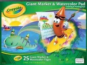 2 PADS: Crayola Giant Marker and Watercolor Pad