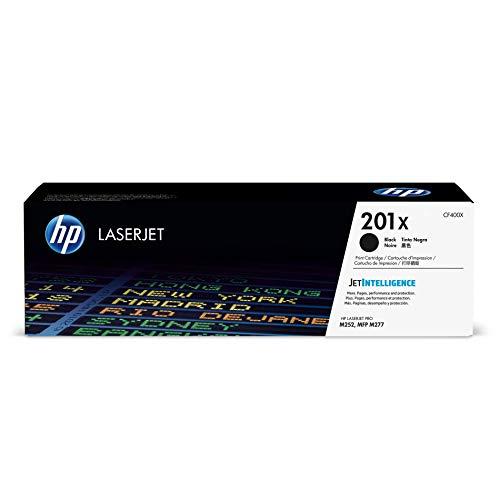 HP 201X CF400X Toner Noir grande capacité Authentique pour HP Color LaserJet Pro M252 / M274 / M277