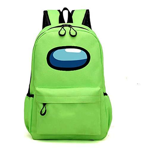 Flyself Teenagers Sac à Dos Among Us 3D Games Backpack Bags Garçons école Sacs Filles Mignon Cartable Oxford Imperméable Décontracté Bag