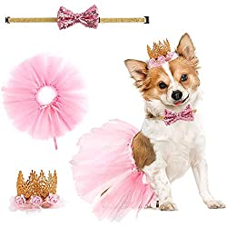 What will you receive: cute pink dress, lovely adjustable bowknot, Stylish and eye-catching, the gold glitter with pink tulle princess crown. The suit is combined perfectly, suitable for wedding, birthday and other festivals. it will be the perfect g...