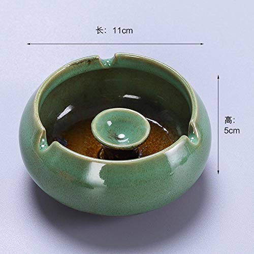 Posacenere in ceramica stile nordico con coperchio antivento e posacenere per la casa creativa Asakusa - Posacenere verde (senza copertura)