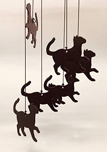 Profiles Carillon à Vent en métal Motif Chat Noir