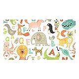 Ameolone Alfombras inconsútiles del cuarto de baño del patrón del alfabeto Eco-Friendly para la estera