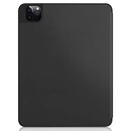RZL Pad y Tab Fundas para iPad Pro 12 9 2020, Cubierta automática para la Tableta de Cuero PU para iPad Pro 12.9 4ª generación (Color : Negro, Talla : For iPadPro12.9 2020)