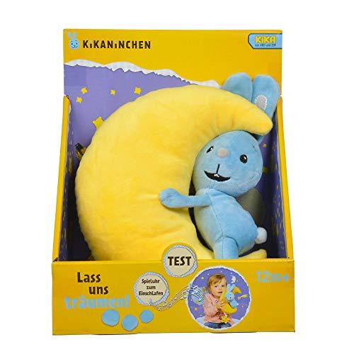 #1118 Spieluhr Kikaninchen mit Halbmond im Arm - Plüsch Hase Baby Spielzeug Stofftier Kika Kaninchen Musik