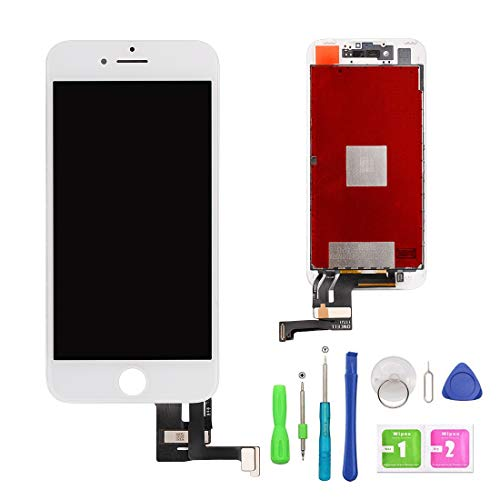 FFtopu iPhone 7 Plus Screen Replacement White 5.5'', LCD Display and 3D Touch Screen Digitizer Replacement Full Assembly for iPhone 7 Plus Screen with Repair Tool Kit