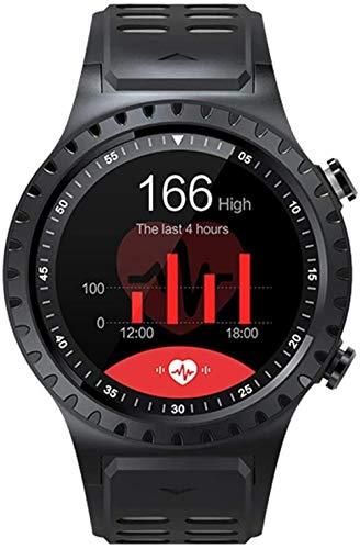Reloj inteligente de alta definición con pantalla táctil, monitor de presión arterial y frecuencia cardíaca, brújula de alta presión, multifunción, Bluetooth, rastreador de fitness, color rojo y gris