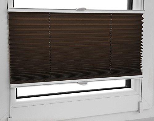 Store plissé avec porte-pince Marron chocolat 80 largeurs 30 x 100 cm