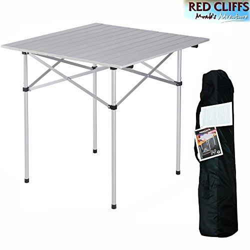 Storepoint Red Cliffs Tavolo Alluminio Anodizzato Pieghevole (LxPxH) 71 x 71 x h 70 cm