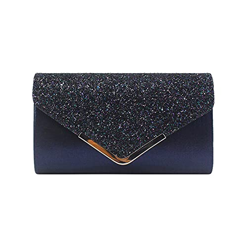 Mengove Frau Abendtasche Glitter Umschlag Dame Umhängetasche Handtasche Kette Tasche für Hochzeit Freizeit Party (B4)