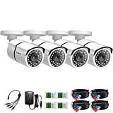 Best BW Outdoor Security Cameras - ZOSI 4 Pack HD-TVI 1280TVL 720p Home Security Review