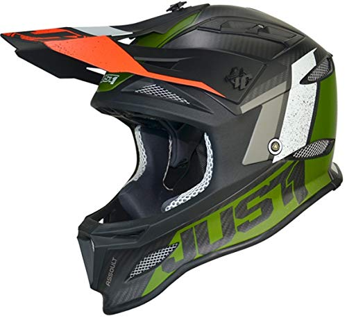 Just 1 Helmets 609230124300105 Casco de Downhill/MTB/Enduro Unisex - Adulto, Negro/Verde, L