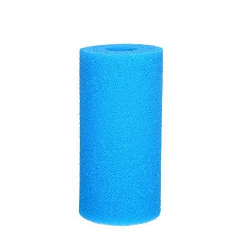 KKmoon - Cartucho de esponja, filtro de espuma, reutilizable, lavable, herramienta de limpieza para piscina, cartucho de repuesto para filtro tipo A, color azul, 20 x 10 x 10 cm, 1 unidad por paquete
