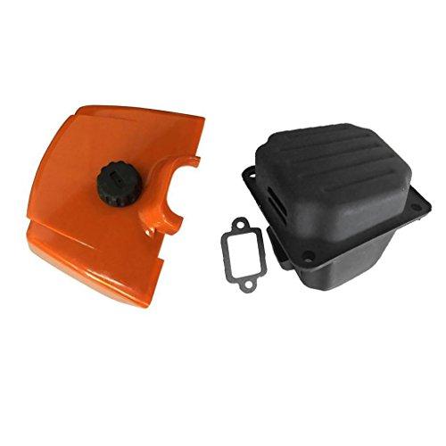 Escape del Silenciador, Junta Y Filtro De Aire para STIHL 038 380 MS380 MS381 038AV Magnum Tamaños Consistentes Repuestos De Motosierra Accesorios