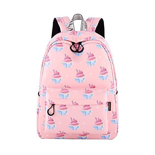 Nenka Zaino per la scuola semplice e portatile, zaino per la scuola, zaino per la scuola, da viaggio, da donna, zaino per la scuola, per attività all'aperto, in tela, Colore: rosa., L
