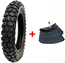 COMBO: Knobby Tire with Inner Tube 3.00-12 Front or Rear Trail Off Road Dirt Bike Motocross Pit