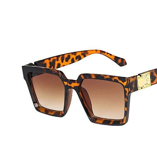 HYwang Gafas De Sol Gafas De Sol Cuadradas De Borde Ancho Moda Protección Solar Protección Ocular Gafas De Sol Mujer