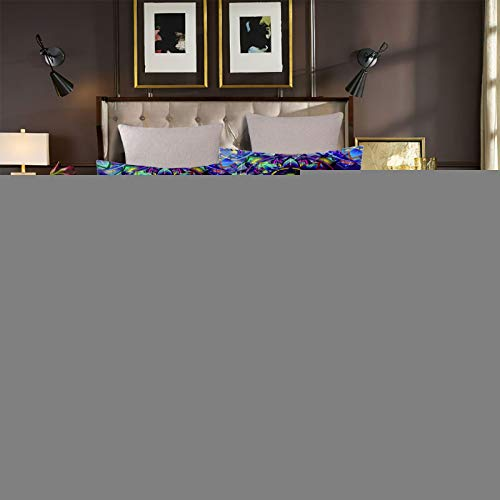 UDUVOG Funda Nórdica, Flores De Girasol Azul Juego De Ropa De Cama con Funda Nórdica Niña Y Niños 3D Impresión Juego De Ropa De Cama con Funda Nórdica Y Funda De Almohada 150X200Cm