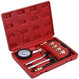 WiMas Compresión De Cilindro Motor Kit, Set de Prueba de Compresión Medidor de Compresión Herramienta de Diagnóstico con Estuche de Plástico