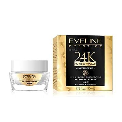 Eveline Cosmetics Prestige 24k Snail&Caviar Anti-Wrinkle Lifting Face Night Cream | 50ml | Anti Ageing Serum for Mature and Sensitive Skin | Soft and Supple Skin | Nourishing Regenerating Properties by Eveline Cosmetics