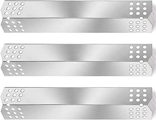 GFTIME 37 x 8,6 cm 97371 Edelstahl Wärmeplatte Zubehör für Char-Broil, Taino 4 Pro 4+1 Pro, Enders, Landmann und Campingaz Gasgrill BBQ Ersatzteile Brennerabdeckung, Hitzeschild, Die Flammbleche