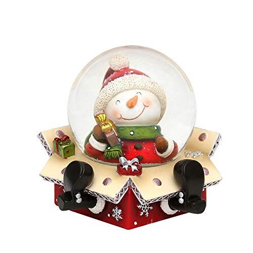 Bola de nieve original y divertida, tamaño aproximado:6,5x 6cm; 4,5cm de diámetro, Muñeco de nieve, Ø 4,5 cm