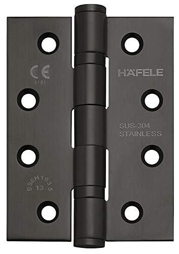 JUVA Türscharnier Edelstahl schwarz matt Aufschraubband Startec DHB3222 für ungefälzte Innentüren | Tragkraft bis 120 kg | Aufschraubscharnier für Zimmertüren | 1 Stück - Scharnier mit Schrauben