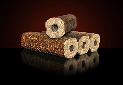 Holzbriketts: 960 kg Palette | Gluthalter Pini Kay Premium | je 10 kg Briketts Sackware