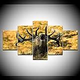 Elk Canvas Set Arte decorativo de la pared Cuadros modulares para la sala de estar Pintura de ciervos sobre lienzo Pintura impresa Sin marco-20x35_20x45_20x55cm