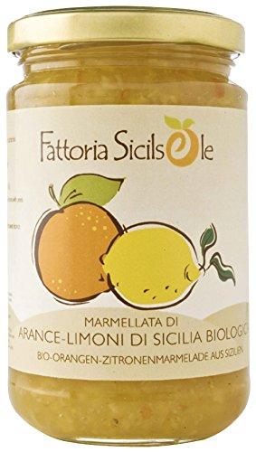 Fattoria Sicilsole Bio Orangen-Zitronen Marmelade (6 x 370 gr)