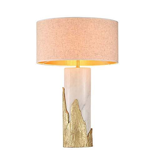 ZXQZ Lámpara de Escritorio Lámpara de Mesa China Moderna atmósfera Simple decoración de la Sala de Estar iluminación de la Sala de exposiciones Sala de Aprendizaje Creativo lámpara de Cobre de mármol