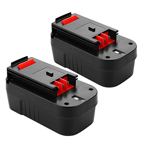 Upgraded to 3600mAh 18V HPB18 Replacement Battery for Black and Decker 18 Volt Battery HPB18-OPE 244760-00 A1718 FSB18 Firestorm 2-Pack