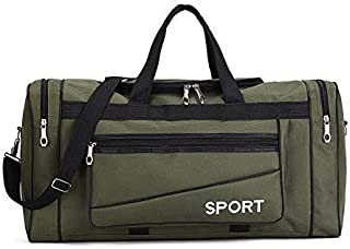 Oxford Casual Duffle Bag Waterproof Men's Travel Bags Weekend Multi-Pocket Large Carry On Luggage Bag for Male Travelling XA131K (Color : Army Green, Size : -)