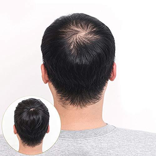 Souple Pince Fashian Naturellement Réaliste En Véritable Cheveux Humains Pour Le Morceau De Cheveux Homme Invisible Et Mince fashion (Color : Natural black, Size : 20cm)