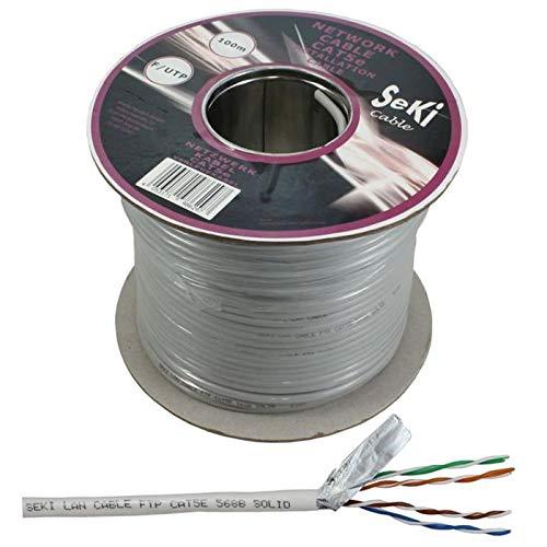 Netzwerkkabel Cat.5e 100m ; F/UTP ; Cat5 LAN Ethernet Kabel Verlegekabel