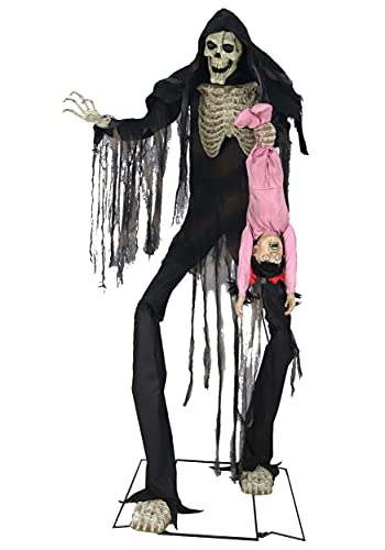 Boogeyman with a Kid Lifesize Animated Halloween Props