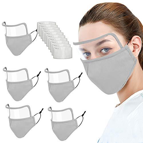 Visière Anti Salive Couverture Bouche Nez Yeux de Protection Visage Anti Salive Pollen Poussière pour Femme Homme