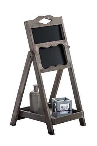 CLP Expositor Estantería Tipo Escalera Patrick I Mueble Decorativo con Pizarra & un Estante I Estantería Escalera Plegable I Color: Marrón Oscuro