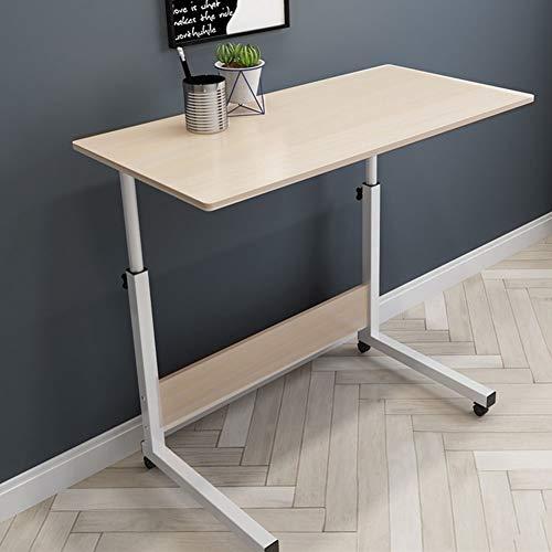 Mobiler Betttisch Auf Rollen, Höhenverstellbar Laptoptisch Laptopständer, Computertisch Sofa Bett Ständer Schreibtisch Pflegetisch Einstellbar (Color : E, Size : 80x40cm)