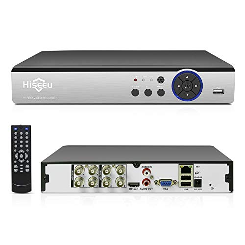 8 Channel DVR,Hiseeu 5MP Digital Video Recorder,H.265+ CCTV DVR for Security Camera,IPC/AHD/TVI/CVI/Analog 5 in 1 Hybrid Digital Video Recorder, Easy Remote Access, No Monthly Fee, No Hard Drive