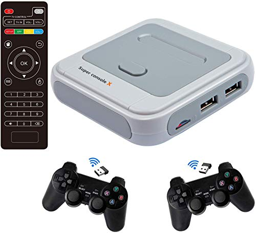 Augustusws Super Console X PRO Video Game Console Retro Game Console with 256 Card Built-in 50,000+...