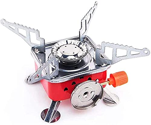 Gokich Stainless Steel Foldable Square Cooking Stove Portable Outdoor Camping Travel Picnic Mini Gas Stove