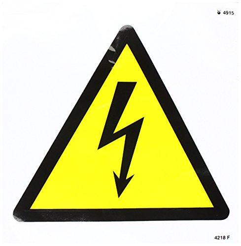 Caledonia Signs 24218F Elektrizitäts-Symbolschild, selbstklebend, Vinyl, 200 mm x 200 mm