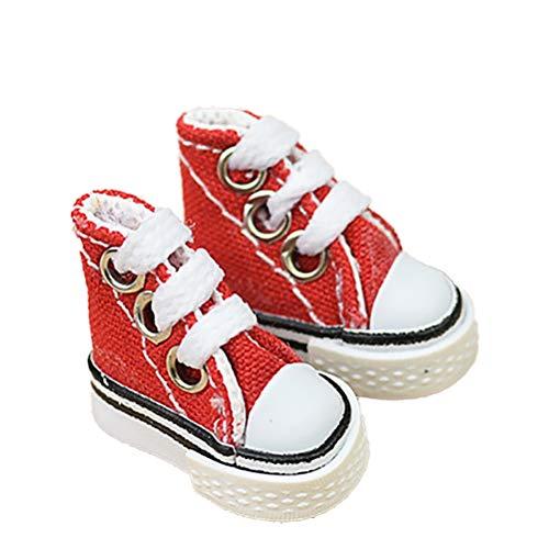 Akemaio 3.5CM Leinwand Schuhe Dekoration Fingertanz Schuhe Supermodel Ragdoll Schuhe Turnschuhe Ornamente
