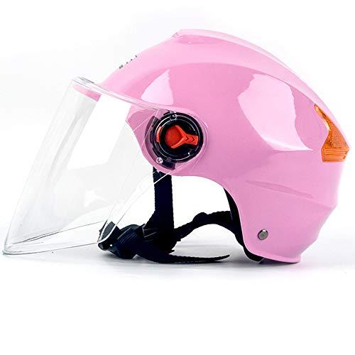 YLIK Equipo de Ciclo al Aire, de Alta definición de Objetivos, Visera, Viento Refugio Lluvia, el Sol Protección UV, para los Deportes al Aire Libre (Rosa Oscuro/Rosa + Shell Brown Parasol),A