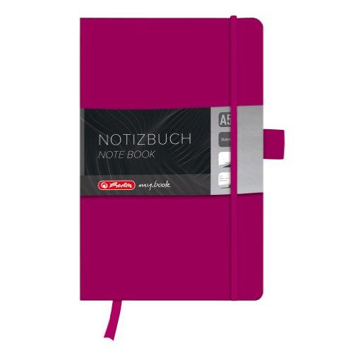 Herlitz 11369022 Notizbuch my.book Classic A5, 96 Blatt, blanko, berry