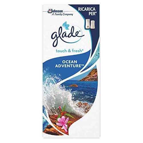 Glade Touch e Fresh Ricarica, Deodorante per Ambienti Minispray, Fragranza Ocean Adventure, 10ml
