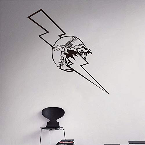 Lightning Baseball Wandaufkleber Home Interior Wall Art Wandbild Houseware Home Garden 33 x 57 cm